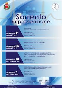 A Sorrento 4 appuntamenti con la prevenzione