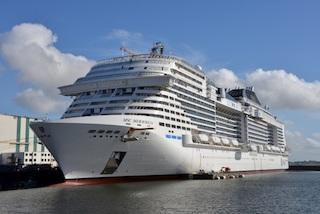 Varata la Msc Meraviglia, la più grande nave da crociera europea