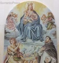 Il vescovo Alfano benedice il pannello della Madonna delle Grazie