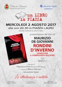 A Sorrento presentazione del libro di Maurizio de Giovanni