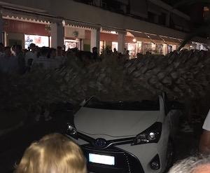 Palma si schianta su un'auto, tragedia sfiorata in piazza Lauro – foto e video –