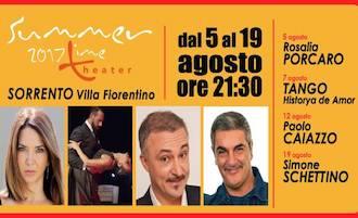 A Villa Fiorentino si ride con Rosalia Porcaro, Paolo Caiazzo e Simone Schettino