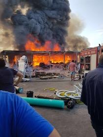 Incendio alla Cooperativa Snam di Massa Lubrense