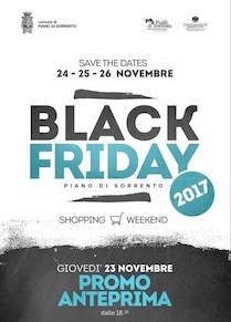 A Piano di Sorrento appuntamento con il Black Friday