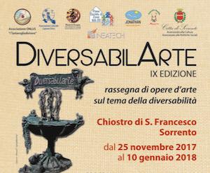 Sabato al Chiostro di San Francesco apre la mostra DiversabilArte 2017
