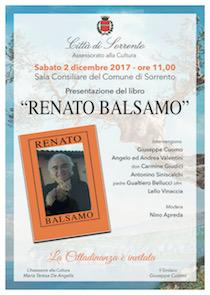 Un libro dedicato alla memoria di Renato Balsamo