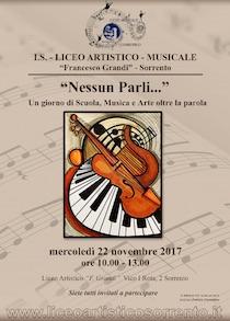 """Al liceo Artistico – Musicale """"Grandi"""" l'evento """"Nessun parli…"""""""
