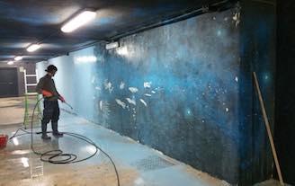 Rimossa la vernice, riappare il murales della stazione di Piano di Sorrento