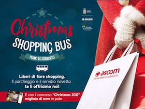 Sosta e bus gratis per lo shopping a Piano di Sorrento