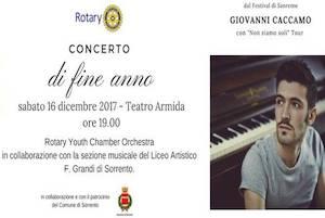 Giovanni Caccamo star del concerto del Rotary Sorrento