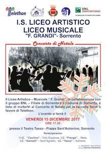 """A Sorrento studenti del """"Grandi"""" in concerto per Telethon"""