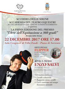 Enzo Salvi riceve il Premio delle Sirene a Piano di Sorrento