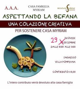 Domani alla Villa Pompeiana evento per la casa famiglia Myriam