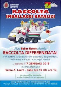 In piazza Lauro raccolta di imballaggi natalizi e olio esausto