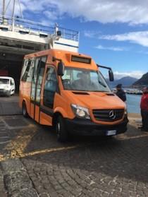 Un nuovo bus per il trasporto pubblico di Capri