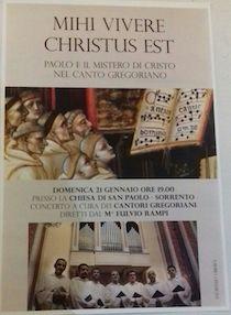 Domani il concerto dei Cantori Gregoriani alla chiesa di San Paolo