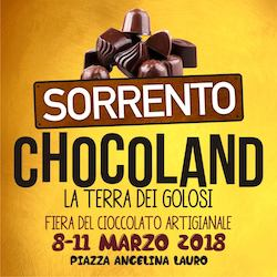Tutto pronto a Sorrento per Chocoland, la fiera del cioccolato