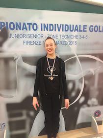 Elena D'Esposito della Ginnastica Sorrento alle finali nazionali