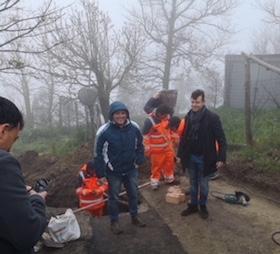 Al via i lavori per ampliare la rete fognaria di via Pontone