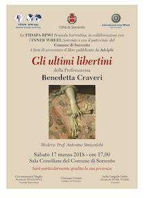 """A Sorrento si presenta il libro """"Gli ultimi libertini"""""""