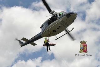 Monte Faito, escursionista in difficoltà soccorso da elicottero