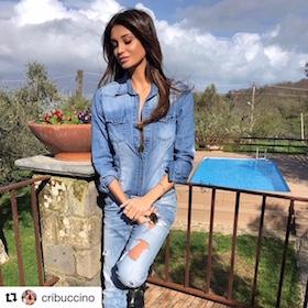 Feste di Pasqua a Sorrento per la modella Cristina Buccino