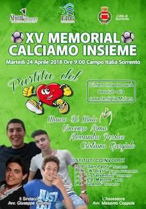 "Sport, solidarietà e memoria al XV torneo ""Calciamo Insieme"""