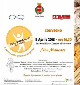 Convivere con la celiachia e l'intolleranza al glutine, focus domani a Sorrento