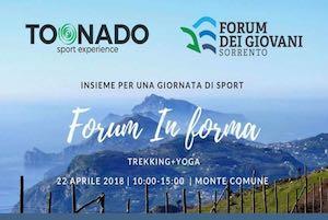 Trekking e yoga con il Forum dei Giovani di Sorrento