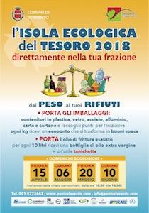 Domani appuntamento a Casarlano per l'Isola Ecologica del Tesoro