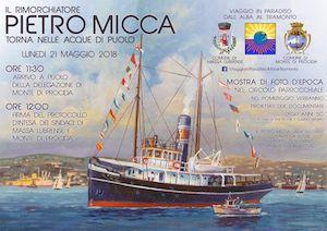 A Marina di Puolo torna lo storico rimorchiatore Pietro Micca