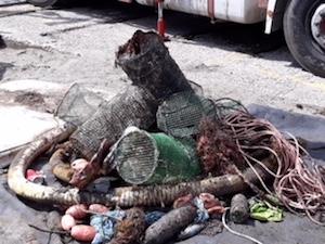Pulizia del mare di Marina Piccola, recuperati 5 quintali di rifiuti