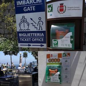 A Sorrento installati due nuovi defibrillatori in spazi pubblici