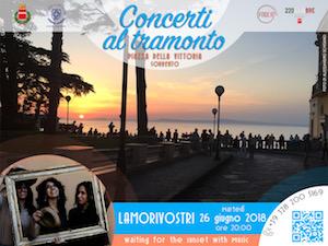 Per Concerti al tramonto domani a Sorrento il trio Lamorivostri