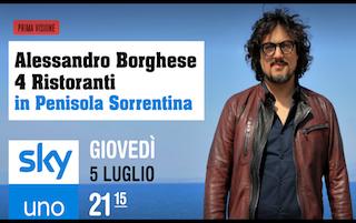 La penisola sorrentina protagonista di 4 Ristoranti su Sky Uno con Alessandro Borghese
