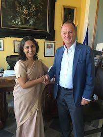 Visita a Sorrento dell'ambasciatore della Repubblica dell'India