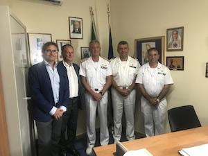 L'ammiraglio Pettorino in visita ufficiale in costiera sorrentina