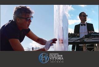 All'hotel Excelsior Vittoria omaggio a Lucio Dalla dell'artista Gennaro Regina