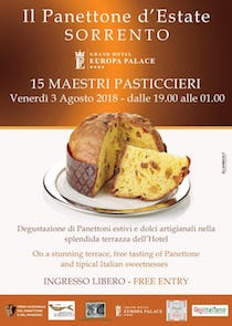 "Domani a Sorrento l'evento ""Il Panettone d'Estate"""