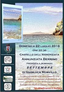 Al Castello dell'Annunziata presentazione del romanzo di Morvillo