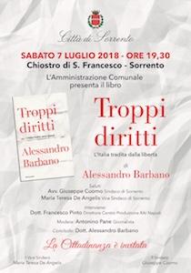 A Sorrento presentazione del libro Troppi diritti di Alessandro Barbano