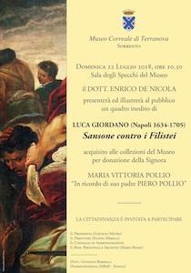 Un quadro inedito di Luca Giordano donato al Museo Correale