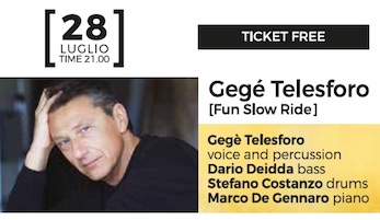 Al Lemon Jazz di Sorrento Gegè Telesforo ed il Trio Bobo