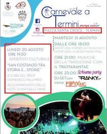 Domani e martedì la Summer Edition del Carnevale a Termini