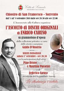 Grammofono e dischi d'epoca, Caruso canta ancora a Sorrento