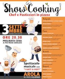 Show Cooking Chef e Pasticcieri ad Arola di Vico Equense
