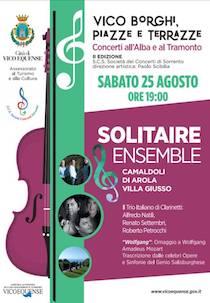 """Alla Villa Giusso di Vico Equense concerto del """"Solitarie Ensemble"""""""