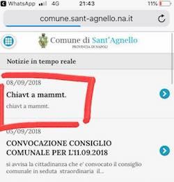 Attacco hacker, frasi volgari sul sito del Comune di Sant'Agnello