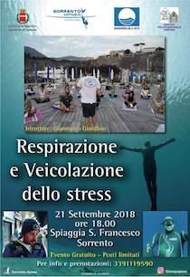 A Sorrento lezioni di respirazione e veicolazione dello stress