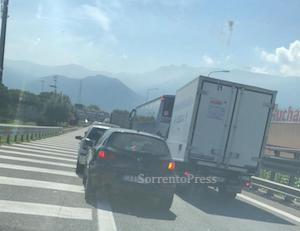"""Chiusura viadotto della """"Sorrentina"""", 3 ore per raggiungere la costiera"""